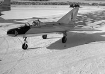 The Saab 210, the Draken's proof of concept demonstrator (Saab).
