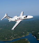 A Cessna 510 Citation Mustang very light jet (VLJ) in flight. (Cessna)