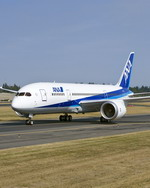 Boeing's second 787 Dreamliner conducts taxi tests in the livery of the launch customer All Nippon Airways. (Boeing)