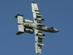 Underside view of a Fairchild A-10 Thunderbolt II (USAF)