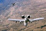 Two A-10 Thunderbolt IIs over Afghanistan on 7 November 2008. (USAF Staff Sgt Aaron Allmon
