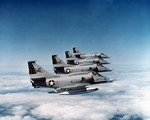 Four A-4 Skyhawks in flight. (The Boeing Company)