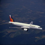 A Philippine Airlines A320 in flight. (Copyright Airbus SAS 2006)