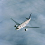 A Saudi Arabia Airlines Airbus A320 in flight. (Copyright Airbus SAS 2009)