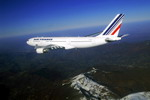An Air France A330-200 flies over the Pyrenees (Copyright Delafosse/Airbus SAS)