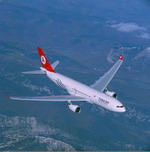A Turkish Airlines Airbus A330-200 in flight. (Copyright Airbus)
