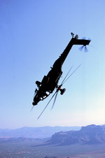 A Boeing Helicopters AH-64D Apache Longbow in flight. (Boeing)