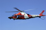 A US Coast Guard MH-68 in flight. (USCG/PA3 Dana Warr)