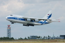 An Antonov An-124 Ruslan taking off.