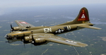 "Seen in flight here is a Boeing B-17G Flying Fortress nicknamed ""Thunderbird"", which is owned by the Lone Star Flight Museum in Galveston, Texas. (USAF/Master Sgt. Michael A. Kaplan)"