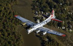 A Boeing B-17 Flying Fortress over Washington on 13 October 2006. (USAF/TSgt Cohen A Young)