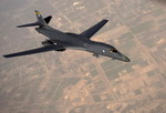 A B-1B Lancer operating in support of Operation New Dawn on 26 February 2011. (USAF/MSgt Adrian Cadiz)
