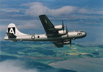 A Boeing B-29 Superfortress in flight. (The Boeing Company)