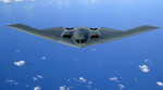 A B-2 during refuelling over the Pacific Ocean on 30 May 2006. The Bomber is from the US Air Force's 509th Bomb Wing based at Whiteman Air Force Base. (USAF/Staff Sergeant Bennie J Davis III)