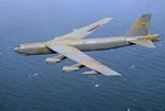 A Boeing B-52 Stratofortress on an aerial mining mission off the South Korea coast during Exercise TEAM SPIRIT '86. (DoD)