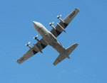 The underside of a C-130 Hercules taking part in an exercise at Nellis Air Force Base on 18 November 2009. (USAF/Airman 1st Class Stephanie Rubi)