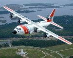 A US Coast Guard HC-130J in flight on 29 November 2006. (Northrop Grumman)