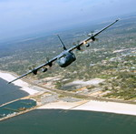 A WC-130J Hercules in flight. (USAF/TSgt James Pritchett)