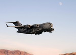 A Boeing C-17 Globemaster III taking off. (US DoD)