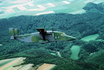 A Shorts C-23 Sherpa from the 10th Military Airlift Squadron  of the US Air Force flying over German countryside en route to Hahn Air Base. (MSGT Bill Thompson/DoD)