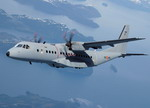 A CASA (EADS) C-295 transport aircraft in flight. The C-295 was developed from the CN-235. (EADS)