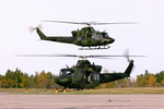 Two Canadian CH-146 Griffons on 23 September 2010. (Canadian Forces photo by Captin Jean-Guy Pitre)