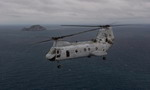 A Boeing (Vertol) CH-46 Sea Knight on an exercise off the coast of Queensland, Australia. (DoD)