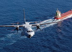 A CASA (EADS) CN-235 flying over a tanker. (EADS)