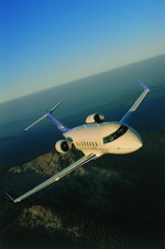 A Bombardier Challenger 605 in flight. (Bombardier)