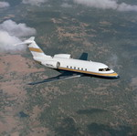 A Bombardier Challenger 600 in flight. (Bombardier)