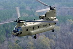 A US Army CH-47F Chinook in flight. (Boing)