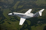 A Cessna Citation CJ4 in flight. (Cessna)