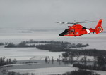 A US Coast Guard Eurocopter HH-65 Dolphin as seen on 28 March 2009. (USCG Petty Officer 3rd Class Erik Swanson)