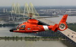 A US Coast Guard HH-65C Dolphin from Coast Guard Air Station Houston in flight on 30 April 2007. (USCG/Petty Officer 3rd Class Mario Romero)