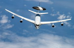 A US Air Force E-3 AWACS on 25 April 2003 during Exercise Tanden Thrust 03 (USAF/MSgt Bill Kimble)