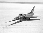 North American F-107 photographed in 1959. (NASA)