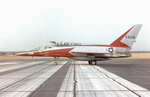 Side profile of the North American F-107 showing unusual dorsal air intake (USAF)