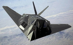 Front view of a Lockheed F-117 Nighthawk (USAF)
