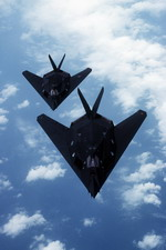 A formation of two F-117 Nighthawks. (USAF)