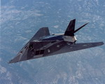 A Lockheed F-117 Nighthawk in flight during the 1980s. The US Air Force retired the F-117 on 22 April 2008. (USAF)
