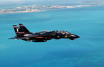 An F-14 Tomcat heads back to Key West after a training exercise during Cope Snapper 02, on 17 October 2002. (USAF/Staff Sgt Shane A Cuomo)