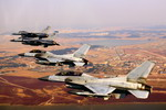 F-16s from the US and Republic of Korea Air Forces fly in formation to commemorate the 60th anniversary of the Korean War on 10 November 2010. (USAF/MSgt Jason Wilkerson)