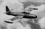A Republic F-84E in flight. (USAF)