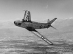 North American F-86 Sabre in flight (USAF)