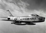 A North American F-86H-10 in flight. (USAF)