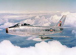 A Royal Canadian Air Force F-86 Sabre  on 17 August 1951. (RCAF)
