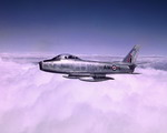 A Royal Canadian Air Force F-86 Sabre in flight. (Canadian Air Force)