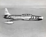 The first Lockheed YF-94 Starfire in flight. This was converted from a TF-80C. (USAF)