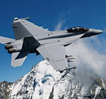 A Boeing F/A-18E Super Hornet in flight. (Copyright The Boeing Company)
