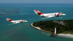 Two US Coast Guard HU-25 Falcons on 5 April 2008. (USCG/Petty Officer 1st Class Jennifer Johnson)